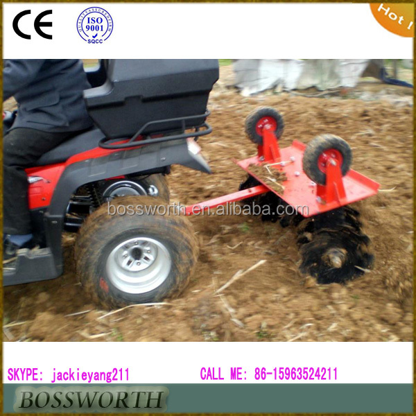 pull type ATV disc harrow