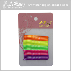 Colorful Metal Painting Fexible Bulk Bobby Pin Hair Accessories