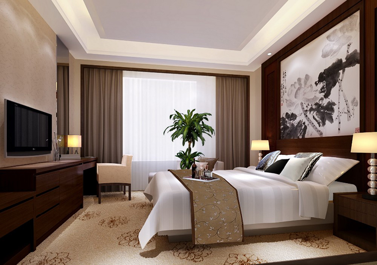 Latest double design wholesale hotel furniture set Foshan hotel bedroom furniture