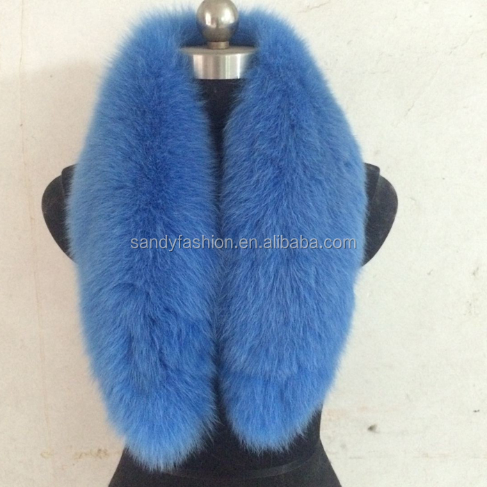 dyed any color top quality real fox fur collar