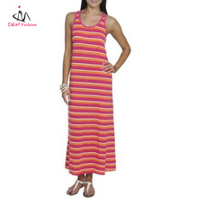 2013 fashion new design wet seal women's Tri-color striped maxi dress