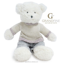 Luxury white classic soft kids teddy bear boy Famous doll designers with EN71 test report and CE mark and Reach docs