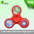 Sublimation high speed rotate fidget hand spinner