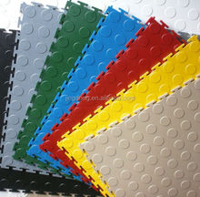 Coin Top Interlocking Vinyl Tile/Interlocking PVC floor