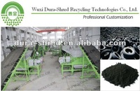 waste truck/van/bus tire recycling machine prices