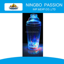 CUP002 Colorful led light drinking glass, Plastic Drinkware led flashing glass