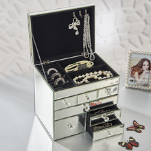 china decorative transparent trinket jewelry box