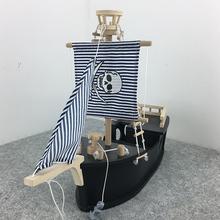 Wooden toy house Pirate Ship educational baby toddler toys