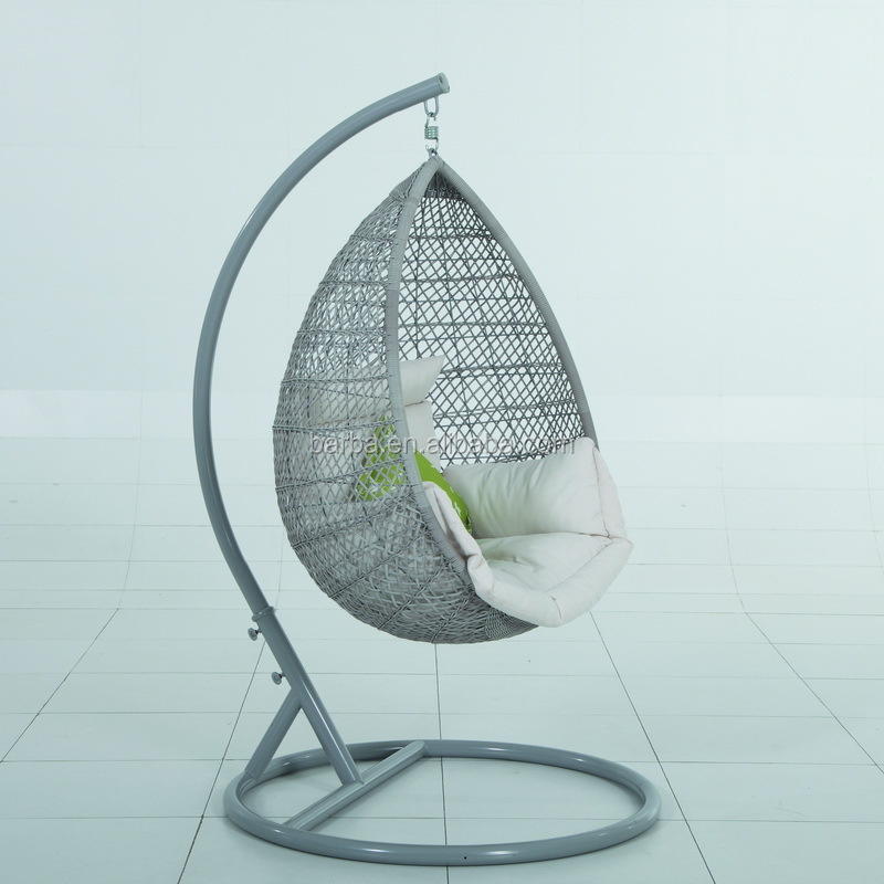 High Quality Swing Chair Patio Resin Wicker Hanging Rattan Chair