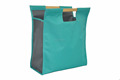shopping bag with wooden handle