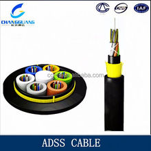 Hot sale 500m span 48 core adss fiber optical cable 1km price