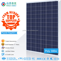 High efficiency 300W poly solar panel mounting the solar panel