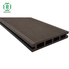 Grooved sanding exterior WPC wood plastic composite outdoor deck boards/decking/floor covering with black, chocolate colors