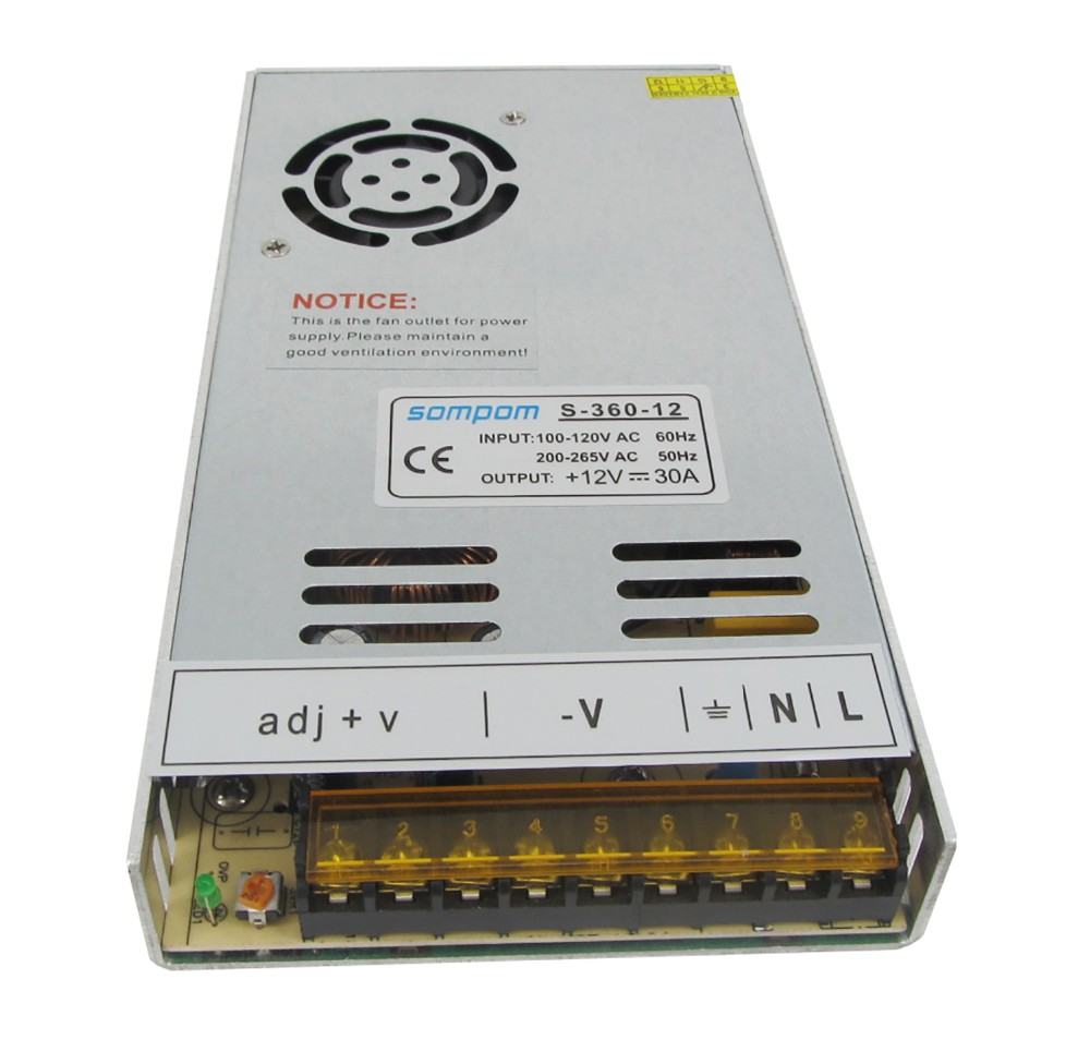 Sompom 5v 24v 12v 360w Led Ultra Thin Switch Power Supplies View Solutions System Protected From