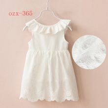 2017 China factory seller little princess kids white frock