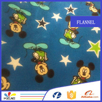 C20*10 40*42 flannel printed 100% cotton fabric for sale