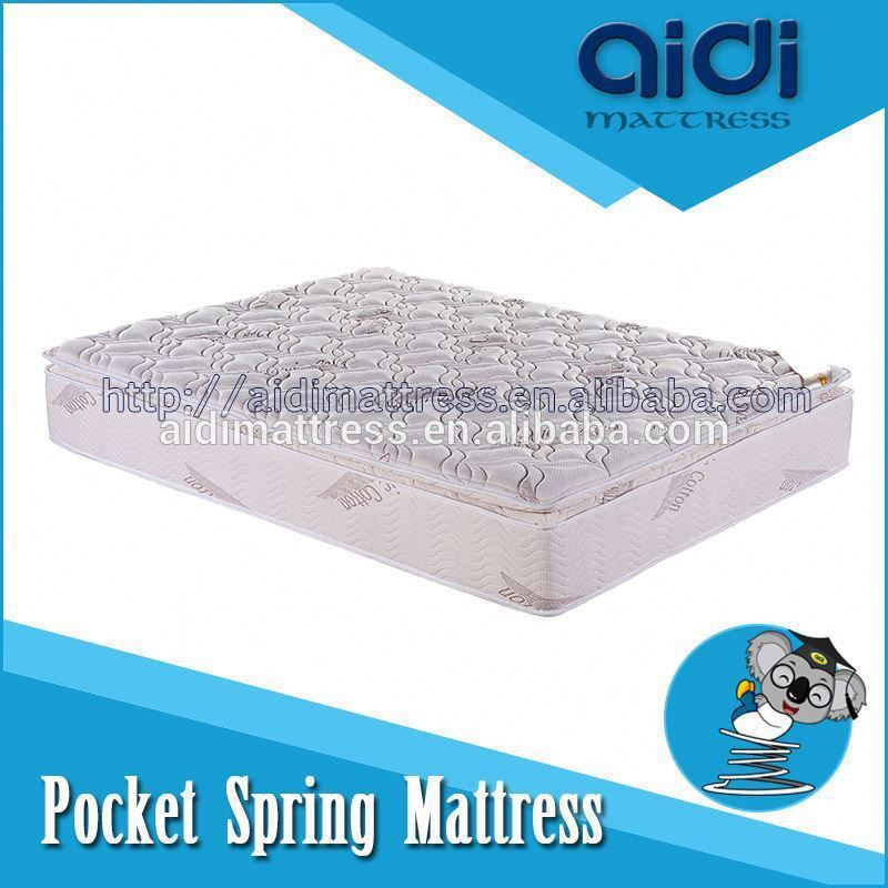 2014 New Design Pocket Spring Mattress, Natural Organic Cotton Fabric Latex Anti-Bacterial Mattress AC-1203