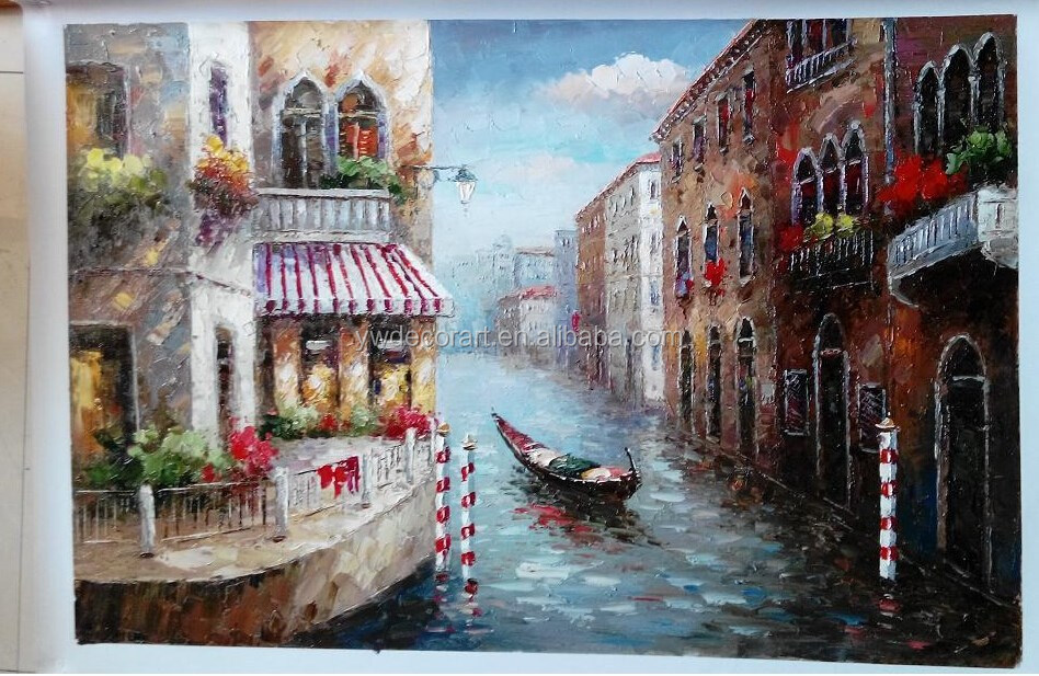 Nice Design impressionist venice oil painting Sale in Gallary Art Painting China Supplier