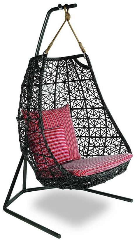 Evangeline 2016 new High Quality Wholesale Garden outdoor PE rattan swings for adults hanging chair