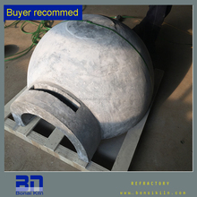 Pizza oven dome and pizza oven used firebrick