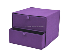 Non Woven Storage Box 2 Layers 2 Drawers Decorative Cardboard Drawer Storage Box