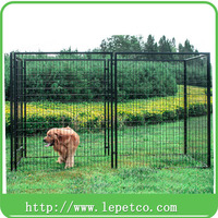 Wholesale Large outdoor galvanized welded wire fence panels dog cage kennel
