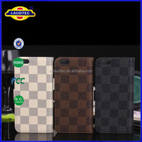 Newest Products Wallet Leather Flip Stand Case for iPhone 6, Special Plaid Pattern Case Cover for Apple iPhone 6
