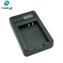 Very cheap shipping cost portable digital camera battery charger with lcd screen USB charging