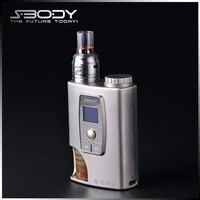 New Style e cig 18650 box mod come with 10ml bottle bottom feeder mod Terminator mod clone