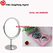 Women Makeup Cosmetic oval (8*10cm) Stand Mirror provide to map custom, Valet processing DIY Makeup Mirror