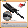 Triple Barrel Hair Curler Wand Professional Salon Tool