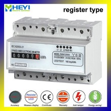 ZMM1250S DIN rail three phase analog energy meter high voltage 1.5/6A