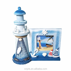 souvenir photo frame, wooden lighthouse for souvenir gifts