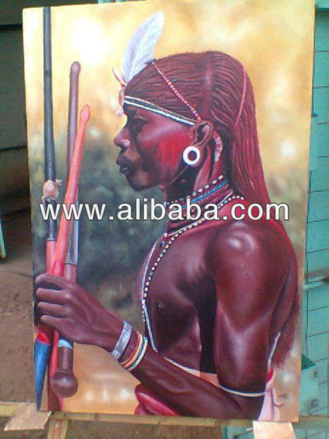 Maasai Warrior Painting