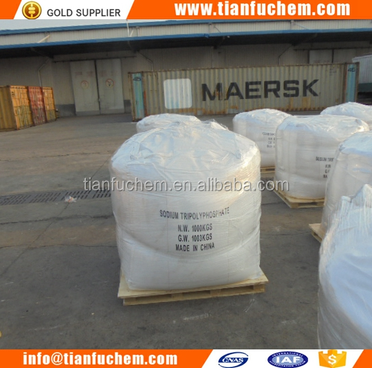 China supplier Sodium Tripolyphosphate/STPP industrial detergent/ceramic grade