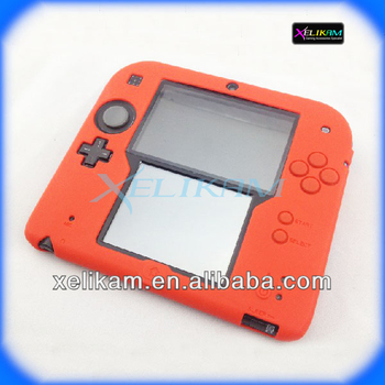 For 2ds silicone case for nintendo 2ds accessory silicone for Housse nintendo 2ds