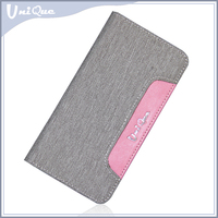 Flip-open style, jeans and PU material, wallet card slot design leather case for iphone 6 and iPhone 6S
