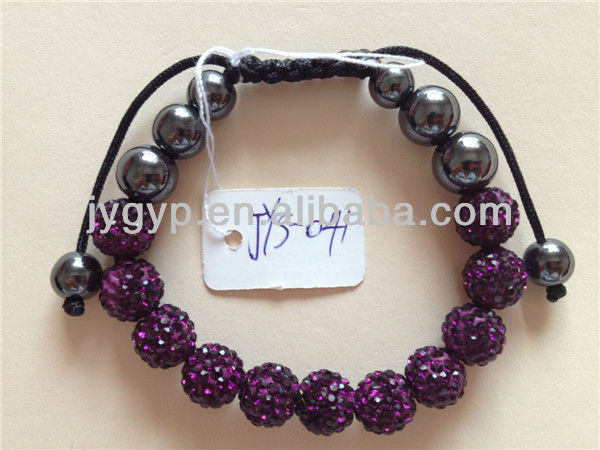 charm beads bracelet 2013 with purple drill