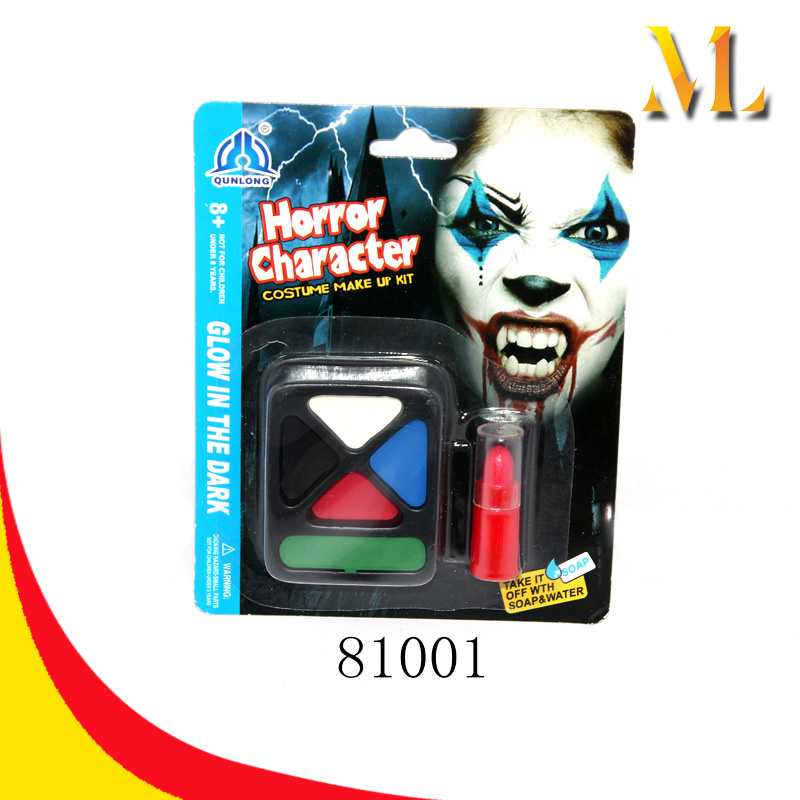 8 years old up children horrow character costume make up kit