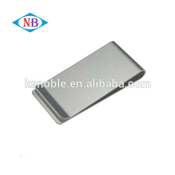 High quality business gifts men's cool silver metal custom money clip