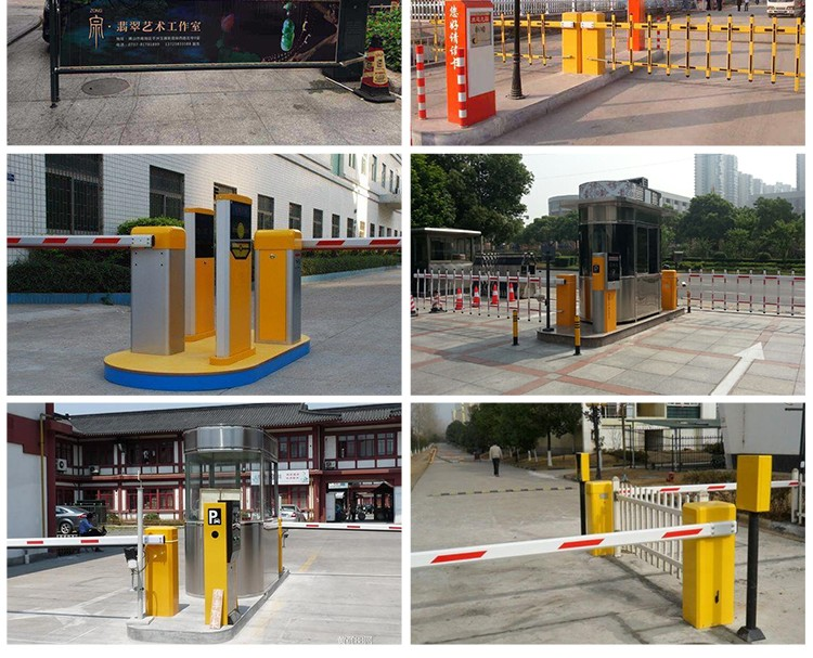 Vehicle access control electronic barrier gate for