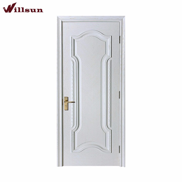 Engineering solid wood white primer shaker style door and frame interior