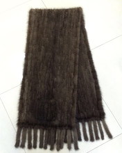popular knitted mink fur shawl macrame with pocket