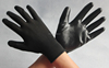 Nylon knitted black nitrile gloves