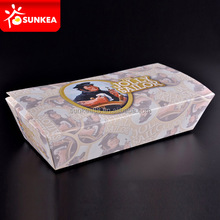 Custom company design printed paper fastfood packaging