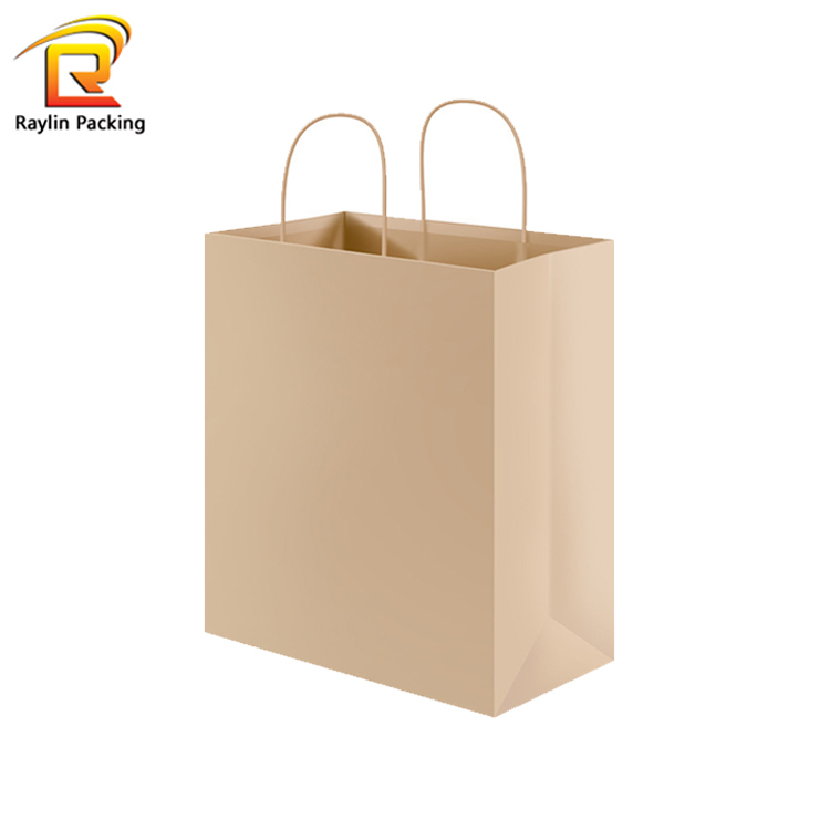 Hot Sale Brown Kraft Twisted Handle Paper Carrier gift Bags