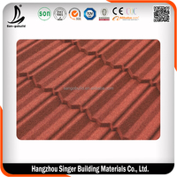 Sun Aluminium Green stone coated metal roofing tile