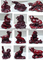 chinese zodiac animals statue FengShui home decor/rat/ox/tiger/rabbit/dragon/snake/horse/sheep/monkey/cock/dog/pig sculpture