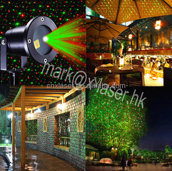 2017 new products IP65 outdoor Christmas star projector laser light shower