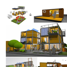 portable prefab modular house / container hotel room